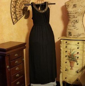 FADED GLORY black maxi dress